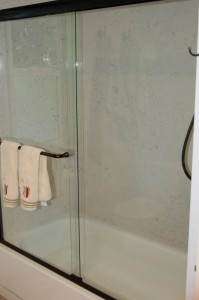 quartz slab shower surround