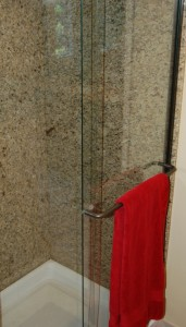granite slab shower surround