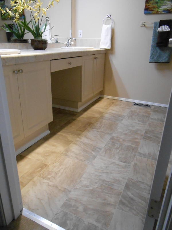 new master bath flooring
