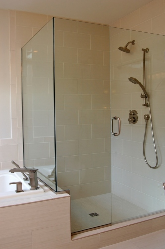 Remodeled shower stall